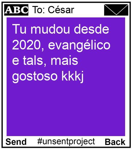 To: César - Tu mudou desde 2020, evangélico e tals, mais gostoso kkkj