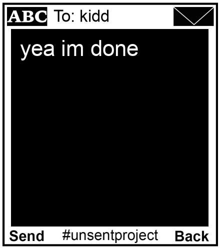 To: kidd - yea im done